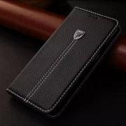 SONY XPERIA Z5 læder cover med kort lomme sort Mobiltelefon tilbehør