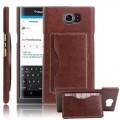 BLACKBERRY PRIV læder bag cover med kort lommer, brun Mobiltelefon tilbehør