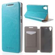 HTC DESIRE 626 læder cover, blå Mobiltelefon tilbehør