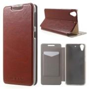 HTC DESIRE 626 læder cover, brun Mobiltelefon tilbehør
