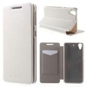 HTC DESIRE 626 læder cover, hvid Mobiltelefon tilbehør