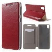 HTC DESIRE 626 læder cover, rød Mobiltelefon tilbehør