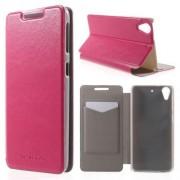 HTC DESIRE 626 læder cover, rosa Mobiltelefon tilbehør