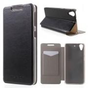 HTC DESIRE 626 læder cover, sort Mobiltelefon tilbehør