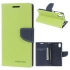HTC DESIRE 626 Mercury goospery læder cover, grøn Mobiltelefon tilbehør