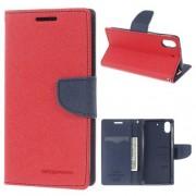 HTC DESIRE 626 Mercury goospery læder cover, rød Mobiltelefon tilbehør