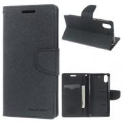 HTC DESIRE 626 Mercury goospery læder cover, sort Mobiltelefon tilbehør