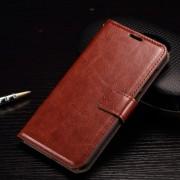 HTC ONE A9 læder cover med kort lommer, brun Mobiltelefon tilbehør