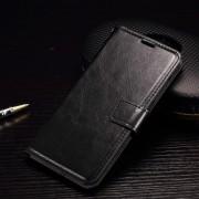 HTC ONE A9 læder cover med kort lommer, sort Mobiltelefon tilbehør