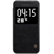 HTC ONE A9 læder cover med vindue i business stil, sort Mobiltelefon tilbehør