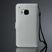 HTC ONE M9 læder pung cover, hvid Mobiltelefon tilbehør