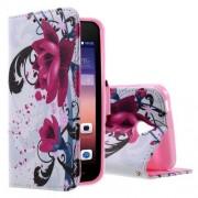HUAWEI ASCEND Y550 læder pung cover mønstret, Elegant Lotus Mobiltelefon tilbehør