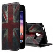 HUAWEI ASCEND Y550 læder pung cover mønstret, Retro UK Flag Mobiltelefon tilbehør