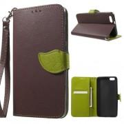 HUAWEI HONOR 4X læder cover med kort lommer, brun Mobiltelefon tilbehør