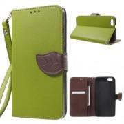 HUAWEI HONOR 4X læder cover med kort lommer, grøn Mobiltelefon tilbehør
