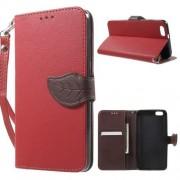 HUAWEI HONOR 4X læder cover med kort lommer, rød Mobiltelefon tilbehør