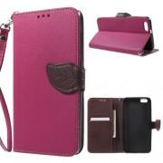 HUAWEI HONOR 4X læder cover med kort lommer, rosa Mobiltelefon tilbehør
