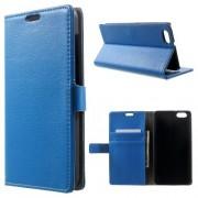 HUAWEI HONOR 4X læder cover med lommer, blå Mobiltelefon tilbehør