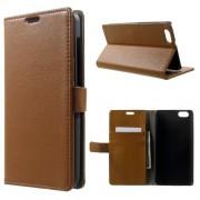 HUAWEI HONOR 4X læder cover med lommer, brun Mobiltelefon tilbehør