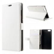 HUAWEI HONOR 4X læder cover med lommer, hvid Mobiltelefon tilbehør