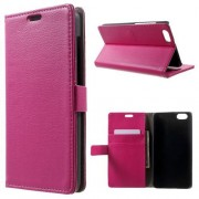HUAWEI HONOR 4X læder cover med lommer, rosa Mobiltelefon tilbehør