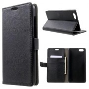 HUAWEI HONOR 4X læder cover med lommer, sort Mobiltelefon tilbehør