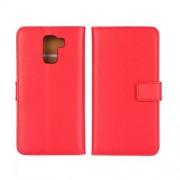 HUAWEI HONOR 7 læder cover med kort lommer, rød Mobiltelefon tilbehør