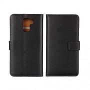 HUAWEI HONOR 7 læder cover med kort lommer, sort Mobiltelefon tilbehør