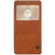HUAWEI MATE S læder cover med vindue, brun Mobiltelefon tilbehør