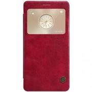HUAWEI MATE S læder cover med vindue, rød Mobiltelefon tilbehør