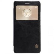 HUAWEI MATE S læder cover med vindue, sort Mobiltelefon tilbehør