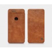 HUAWEI NEXUS 6P læder cover I business stil, brun Mobiltelefon tilbehør