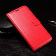 HUAWEI NEXUS 6P læder cover med kort holder, rød Mobiltelefon tilbehør