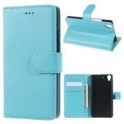 HUAWEI Y6 læder cover med kort lommer, blå Mobiltelefon tilbehør