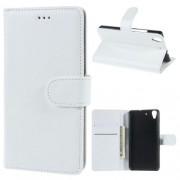 HUAWEI Y6 læder cover med kort lommer, hvid Mobiltelefon tilbehør