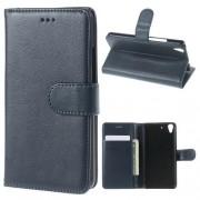 HUAWEI Y6 læder cover med kort lommer, mørkeblå Mobiltelefon tilbehør
