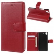 HUAWEI Y6 læder cover med kort lommer, rød Mobiltelefon tilbehør