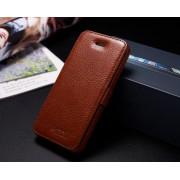 IPHONE 5S luksus læder cover, brun Mobiltelefon tilbehør