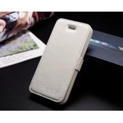 IPHONE 5S luksus læder cover, hvid Mobiltelefon tilbehør