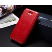 IPHONE 5S luksus læder cover, rød Mobiltelefon tilbehør