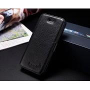 IPHONE 5S luksus læder cover, sort Mobiltelefon tilbehør