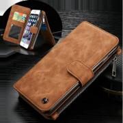 IPHONE 6 / 6s  2 i 1 luksus læder pung cover, brun Mobiltelefon tilbehør