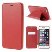 IPHONE 6 / 6S PLUS læder cover med kort lomme, rød Mobiltelefon tilbehør
