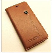 IPHONE 6 / 6S PLUS retro læder cover med kort lomme, brun Mobiltelefon tilbehør