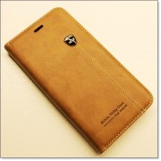 IPHONE 6 / 6S PLUS retro læder cover med kort lomme, lysebrun Mobiltelefon tilbehør