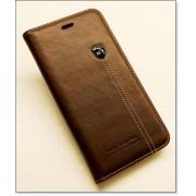 IPHONE 6 / 6S PLUS retro læder cover med kort lomme, mørkebrun Mobiltelefon tilbehør