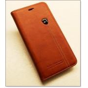 IPHONE 6 / 6S PLUS retro læder cover med kort lomme, rødbrun Mobiltelefon tilbehør