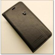IPHONE 6 / 6S PLUS retro læder cover med kort lomme, sort Mobiltelefon tilbehør