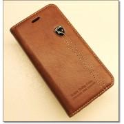 IPHONE 6 / 6S retro læder cover med kort lomme, brun Mobiltelefon tilbehør
