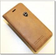 IPHONE 6 / 6S retro læder cover med kort lomme, lysebrun Mobiltelefon tilbehør